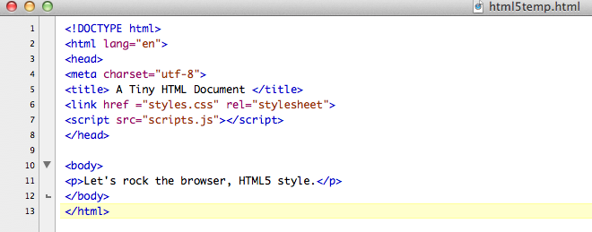 A Tiny Html Document