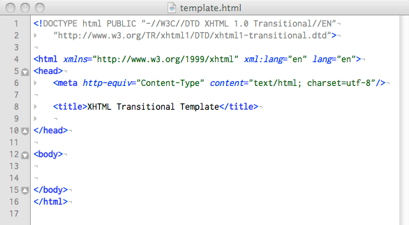 A Basic XHTML Page