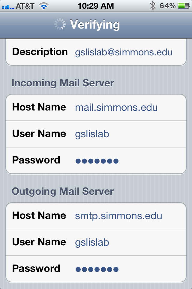 Get Your Simmons Email on Your iPhone or iPad